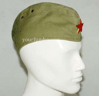 WWII RUSSIA GARRISON CAP WITH INSIGNIA L  31111