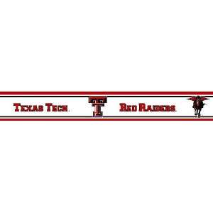 Texas Tech Red Raiders Wallpaper Border   Collegiate Wall Border