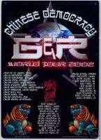 WORLD TOUR (LIONS) GUNS n ROSES metal sign tin poster