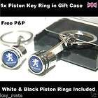 Peugeot 106 107 206 207 307 308 407 3008 Logo Piston Key Ring Keyring