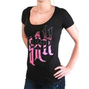 SRH Womens Wild Style Scoop T Shirt   Small/Black