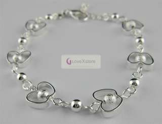 high quality 925 sterling silver plated chain bracelet no 3128