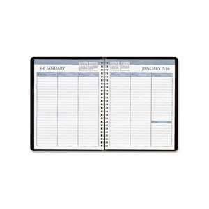 Weekly Planner, 12 Months, Jan Dec, 6 7/8x8 3/4, BK Qty
