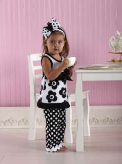 Baby Girls Pleated Ruffle Shift Dress And Bell Bottoms 718540108192