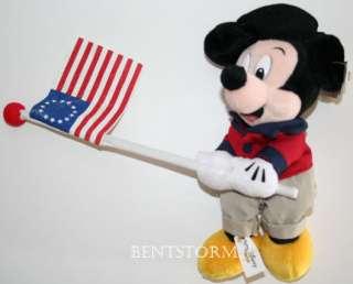 1999 DISNEY Mickey Mouse 4th of July plush bean bag WDW