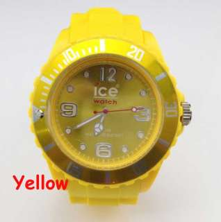 mens womens ICE JELLY Watch white Blue Black pink silicone all colors