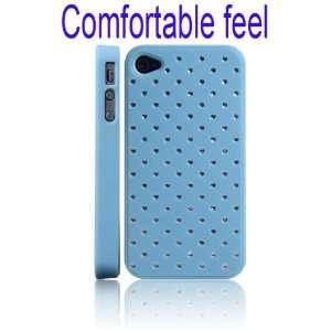 Crystal Stars Hard Case for iPhone 4/4S(BabyBlue)