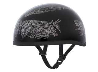 WOMENS SILVER BUTTERFLY DOT Motorcycle Half Helmet ~M