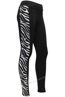 NEW WOMENS LADIES ZEBRA ANIMAL PRINT JODHPUR HORSE RIDING LEGGINGS 8
