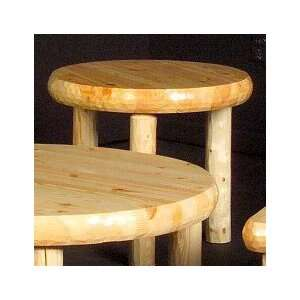 Northern Exposure Round Log End Table
