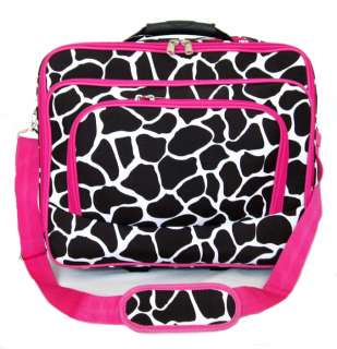 Laptop Briefcase Rolling Wheel Travel Bag Luggage Pink Giraffe