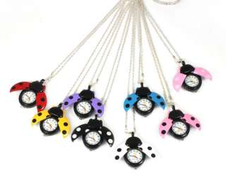 Necklace Pocket Quartz Pendant Watch Clock Children Kids Lady Gift