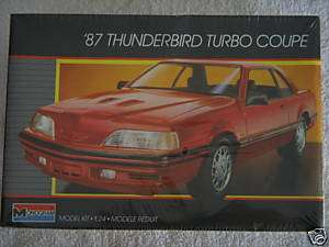 87 THUNDERBIRD TURBO COUPE 1:24 MONOGRAM MODEL KIT