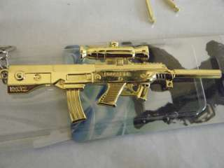 LARGE GOLD METAL SNIPER ASSAULT RIFLE BARRETT M99 REPLICA COLLECTORS