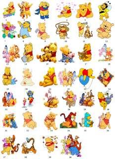 Disney Winnie Pooh Return Address Label Favor Tags