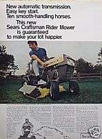 Craftsman Lawn Tractor Mower Original Ad C MY STORE 5+ FREE SHIP