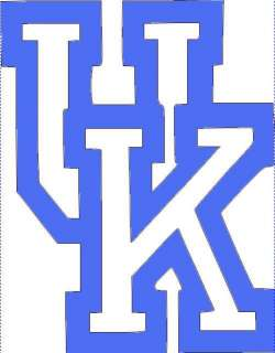 Kentucky Wildcats UK vinyl cornhole logo basketball 510