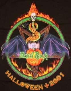 Hard Rock Cafe HRO HALLOWEEN 2001 Black Tee T Shirt   MEDIUM
