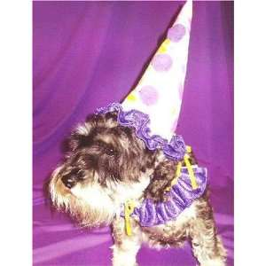 Pet Dog Clown Create a Costume Kit with Birthday Party Hat