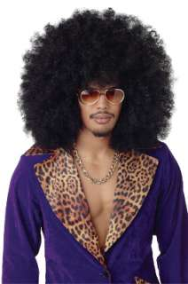 Pimp Big Daddy Jumbo Afro Halloween Costume Wig Black
