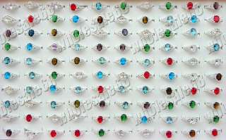 Free fashion Jewelry Wholesale lots 50pcs 925 silver rhinestone women