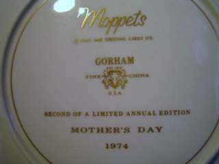 GORHAM Moppets 1973 74 75 Mothers Day plates in box