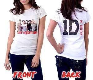 DIRECTION T Shirt British Irish Boy Band White Girls Tee Size S,M,L,XL