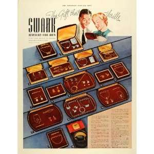 1937 Ad Swank Men Jewelry Cravat Chain Gold Knife