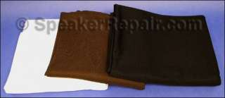 We sell white , brown , and black grill cloth. This auction is for