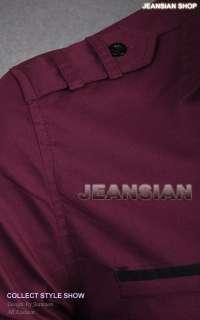 Designer Military Slim Dress Shirts Tops Tie Stylish S M L XL 8328