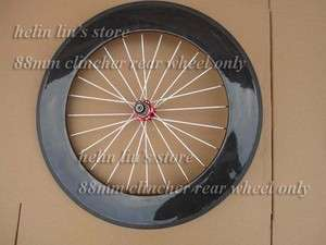 700c 88mm clincher carbon Rear wheel only /carbon road bicycle wheels