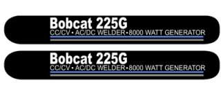 Miller Bobcat 225G Decal Set, Brand New