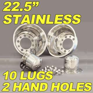 22.5 Dually Truck Stainless Simulator Wheel Liner 10Lug