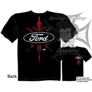 , Pinstripe Ford Oval, Auto Brand T Shirt, New, Ships within 24 hours