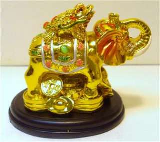Gold golden feng shui elephant money coin frog toad wealth new - Money tree feng shui placement ...