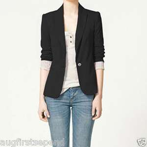Western Vogue Candy Women Lapel Casual Suits Blazer Jacket Outerwear