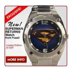 Fossil limited edition superman on popscreen superman returns watch wb dc new by fossil warner bros freerunsca Choice Image