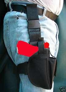 Mens thigh holster Tactical Black nylon webbing