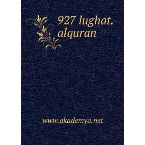 927 lughat.alquran www.akademya.net Books