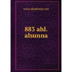 883 ahl.alsunna www.akademya.net Books