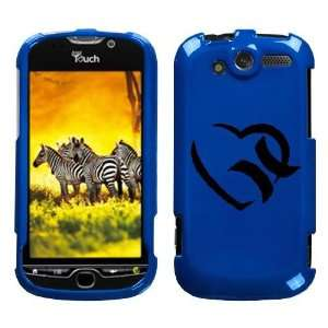 HTC MYTOUCH 4G BLACK HURLEY HEART ON A BLUE HARD CASE