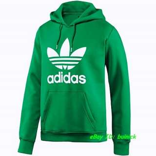 adidas adicolor trefoil hoodie sweater jumper green white new xl. Black Bedroom Furniture Sets. Home Design Ideas