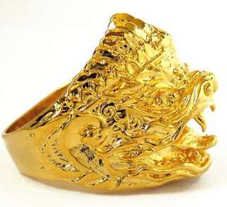 HANUMAN MONKEY WARRIOR GOD THAI AMULET GOLD RING Sz 10