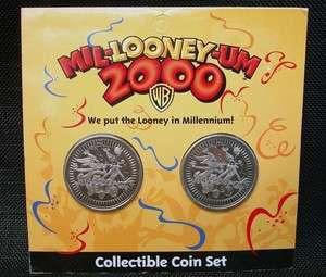Mil Looney Um 2000 Warner Bros Collectible Coin Set MIB