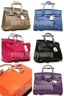 Elegant Fashion ostrich embossed lock bag women handbag w68 L/40CM