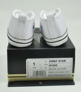 CONVERSE CRIB WHITE MY FIRST ALL STAR BABY BOOTIES GIRLS