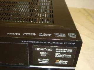 PIONEER VSX 820 K 5.1 3D HDMI HOME THEATER RECEIVER PARTS/REPAIR