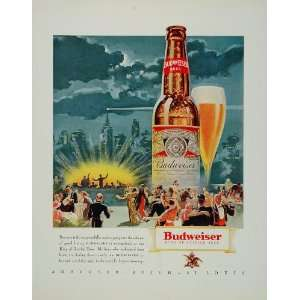 1933 Ad Budweiser Beer Anheuser Busch Big Band Dance   Original Print