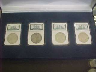 BINION HOARD COLLECTION MORGAN/PEACE SILVER DOLLAR SET