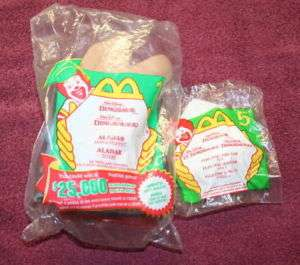 2000 Dinosaur McDonalds Happy Meal Toys 2 ea.
